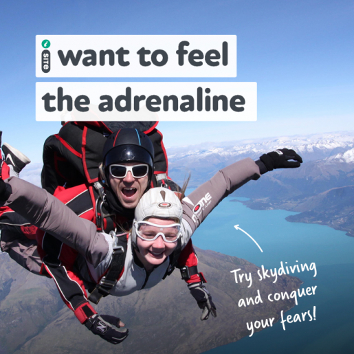 I want to feel the adrenaline