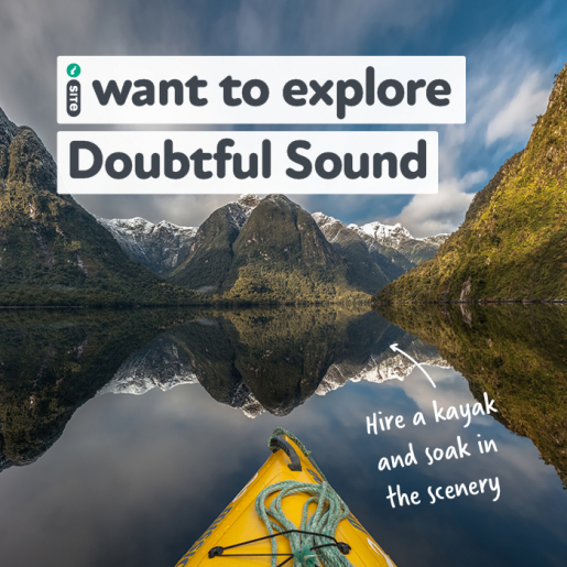 I want to explore Doubtful Sound