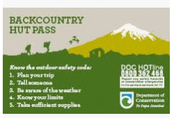 Back Country Annual Hut Pass - Purchase at Napier i-SITE